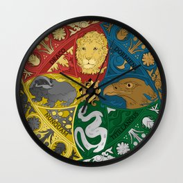Hogwarts Crest Tapestry Full Color Wall Clock