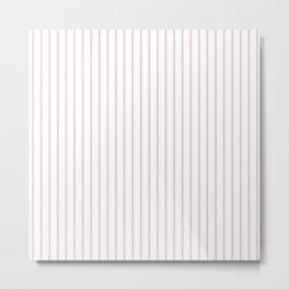 Alice Pink Pinstripe on White Metal Print