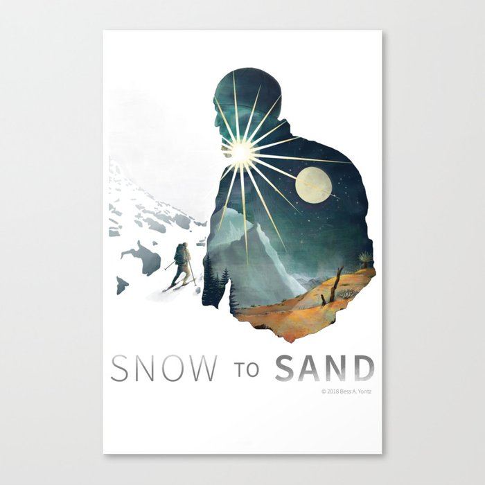 """""""Snow To Sand"""" Official One-Sheet Poster Canvas Print"""