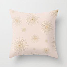 light pink stars Throw Pillow