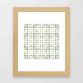 Mid Century Modern Pattern 272 Nile Green Framed Art Print