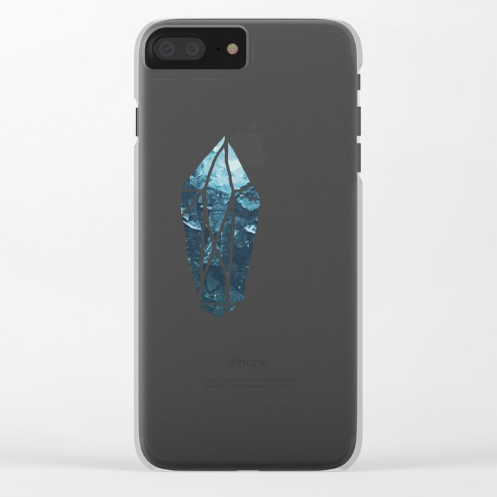 Aquamarine Gem Dreams Clear iPhone Case
