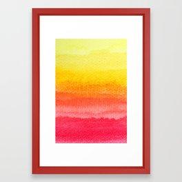 colorful watercolor Framed Art Print