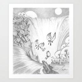 Butterfly Falls Art Print