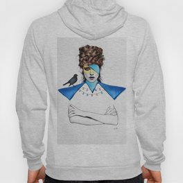 Blue Girl & Black Bird Hoody