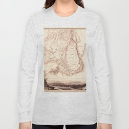 Map Of Sicily 1839 Long Sleeve T-shirt