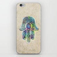 hamsa iPhone & iPod Skins featuring Hamsa by Klara Acel