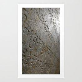 Inscription Art Print