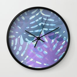 Tropical leaves 8. Wall Clock