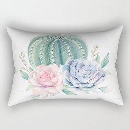 Cactus Rose Succulent by Nature Magick Rectangular Pillow