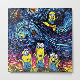 minion stary night Metal Print