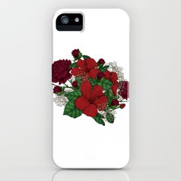 "Flower Arrangement Fall in Love Series "" The trepidation"" iPhone Case"