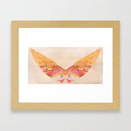 Waxy wings Framed Art Print