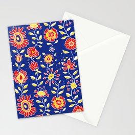 wonky wildflower waterfall ... Stationery Cards
