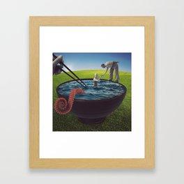 Octopus Ramen Framed Art Print