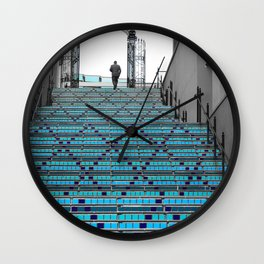 Mystery Man on the Blue Stairway to Heaven, Kansas City Wall Clock