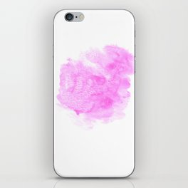 Pink watercolor abstract minimal modern painting perfect decor minimalist iPhone Skin