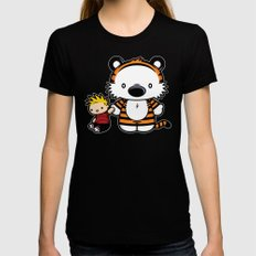 Hello Tiger LARGE Black Womens Fitted Tee