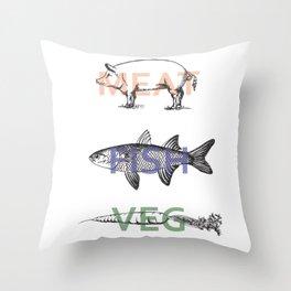 Food Groups Throw Pillow