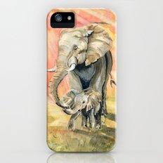 Mom and Baby Elephant iPhone (5, 5s) Slim Case