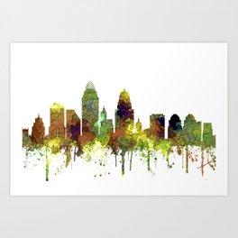 Cincinnati, Ohio Skyline SG- Safari Buff Art Print