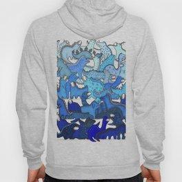Blue Dinosaur Gradient Hoody