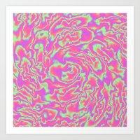 Turbulence in Tutti Fruitti Art Print