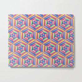 Kaleidoscope Hex Metal Print