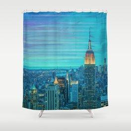 New York Lights Shower Curtain