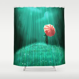 Rainy hill Shower Curtain