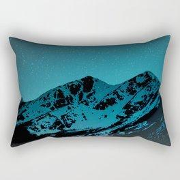 Mountains at night I // Boulder Colorado Rectangular Pillow