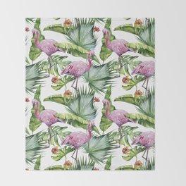 Flamingo Jungle #society6 #buyart Throw Blanket