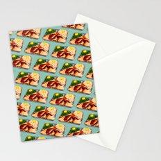 TV Dinner Pattern Stationery Cards