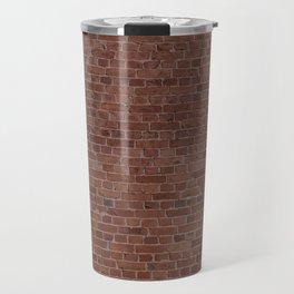 Brooklyn NYC Loft Apartment Brown Stone Brick Wall Travel Mug