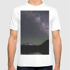 Summer Stars at Lost Lake White MEDIUM Mens Fitted Tee