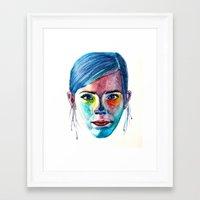 emma watson Framed Art Prints featuring Emma Watson by Stella Joy