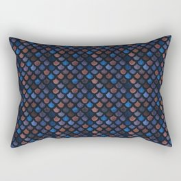 Mermaid Galaxy Scales Rectangular Pillow