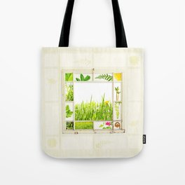 Spring window sampler Tote Bag