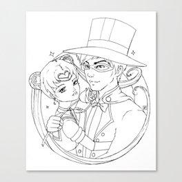 Sailor Moon and Tuxedo Mask Canvas Print