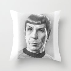 Spock - Fascinating (Star Trek TOS) Throw Pillow