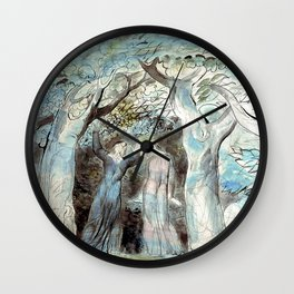 "William Blake ""Illustrations to Dante's Divine Comedy - Dante and Virgil Penetrating the Forest"" Wall Clock"