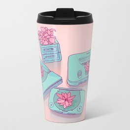Flowers & Consoles Metal Travel Mug