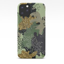 Modern military clothing camouflage glitter illustration pattern iPhone Case