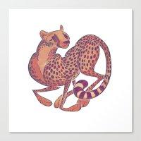 cheetah Canvas Prints featuring Cheetah by Anya McNaughton