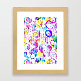 Sweet As Candy - colorful watercolor pattern by Lo Lah Studio Framed Art Print