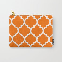 MOROCCAN ORANGE AND WHITE PATTERN Carry-All Pouch