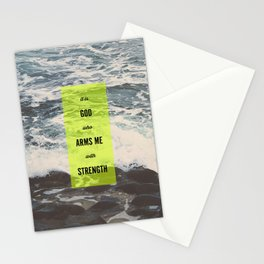 ARMS ME WITH STRENGTH Stationery Cards