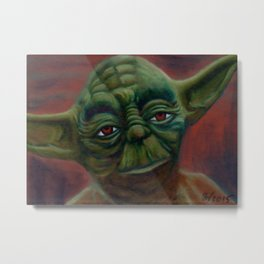Yoda by Jeff Wilfong Metal Print