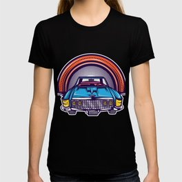 Are You A Vintage Person? Car Lover? Here's A Detailed Design Of  Muscle Car T-shirt Design T-shirt