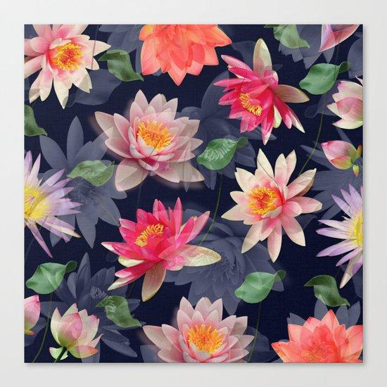 Lotus Flower Pattern #2 Canvas Print